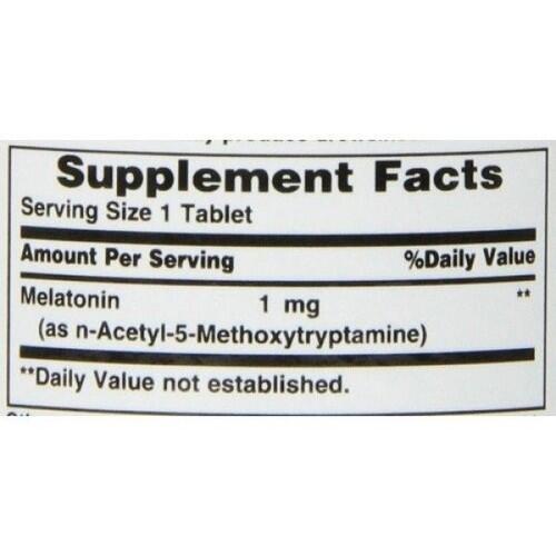 Melatonina 1 mg - Nature´s Bounty - 180 comprimidos