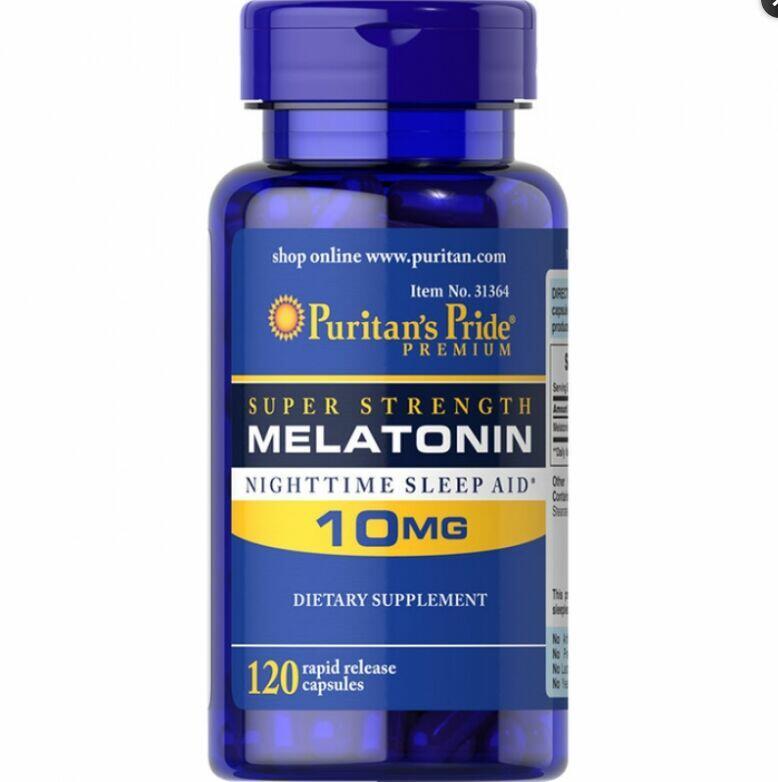2 x Melatonina 10 mg - Puritan´s Pride - Total 240 Cápsulas de liberação Rápida