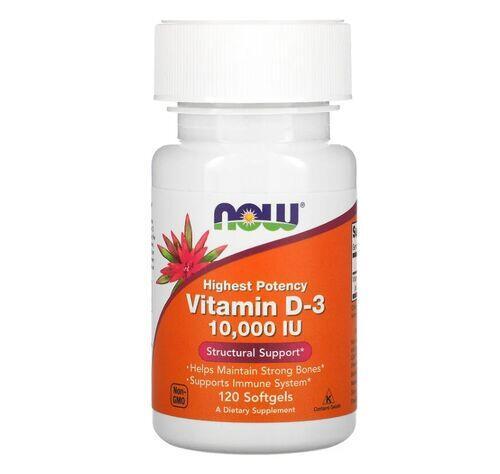 Vitamina D-3 10.000 IU - Now Foods - 120 Softgels