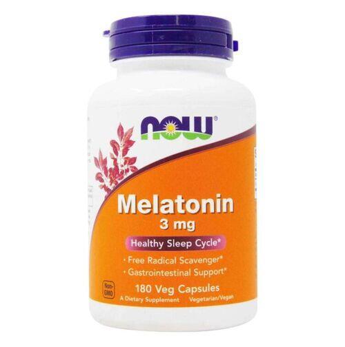 2 x Melatonina 3 mg  - Now Foods - Total 360 cápsulas