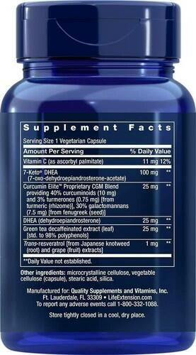 DHEA Complete Life Extension - 100 mg 7-keto Dhea + 25 mg Dhea - 60 Cápsulas