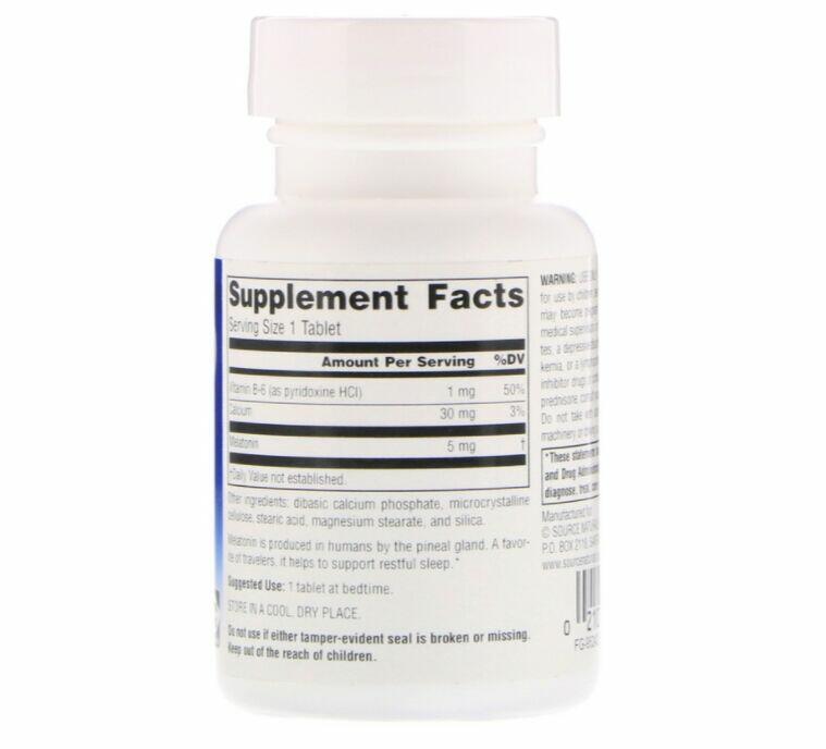2 x Melatonina 5 mg - Source natural´s - Total 240 Tablets