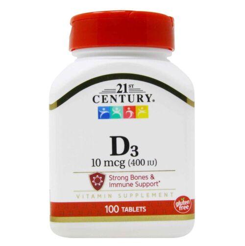 2 x Vitamina D3 1000 UI - 21st Century - Total 200 softgels