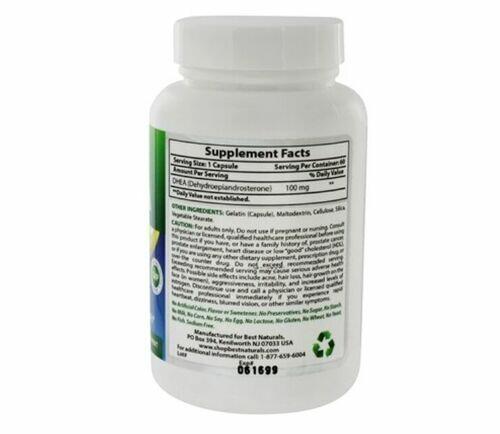 Dhea 100 mg - Best Natural´s - 60 cápsulas