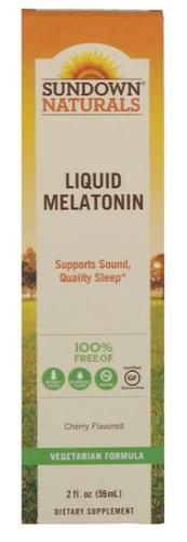 Melatonina líquida 1 mg  - Sundown Natural's - 59 ml (hormônio do sono)