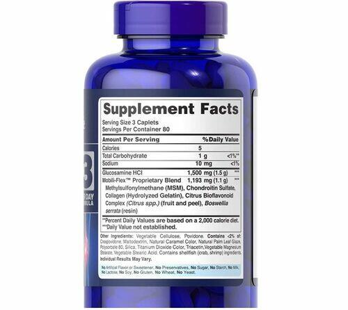 Glucosamina Condroitina e MSM - Puritan´s Pride - 240 Cápsulas
