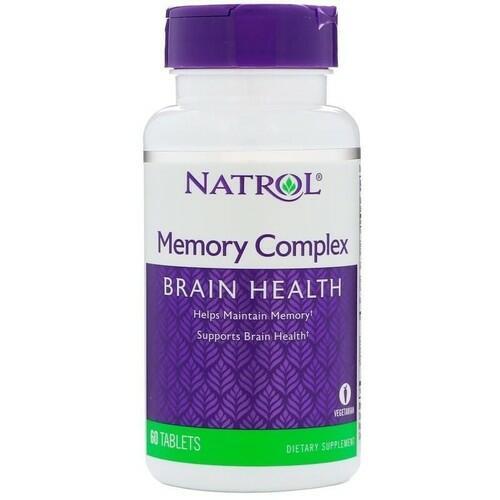 Memory Complex (Suplemento para a MEMÓRIA) - Natrol - 60 Tablets