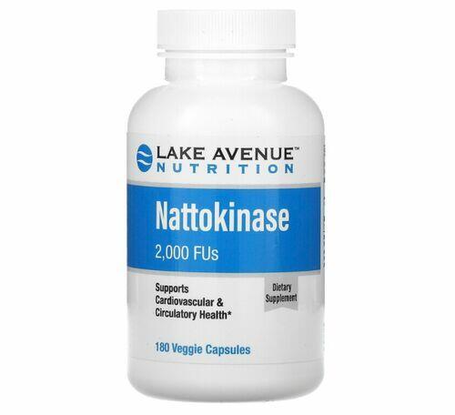 Natoquinase (Enzima Proteolítica) 2.000 FUs - Lake Avenue Nutrition - 180 Cápsulas