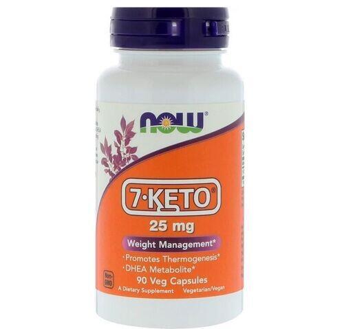 2 x 7-Keto DHEA 25 mg - Now Foods - Total 180 cápsulas