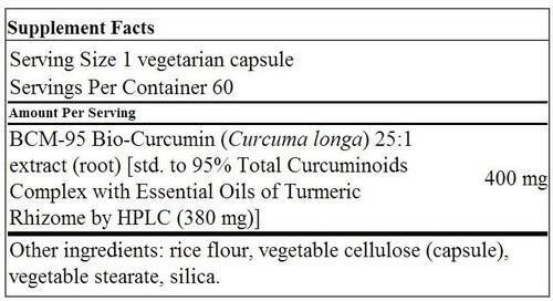 Super Bio-Curcumin 400 mg - Life Extension- 60 Cápsulas