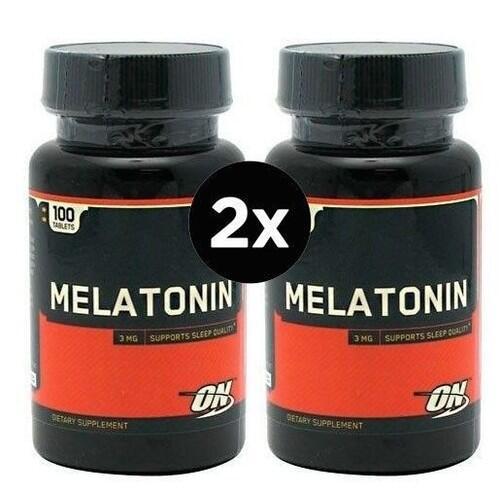 2 x Melatonina 3 mg - Optimum Nutrition - Total 200 tabletes