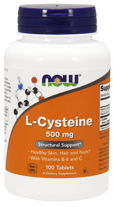 L-Cysteine 500 mg - Now Foods - 100 Tabletes