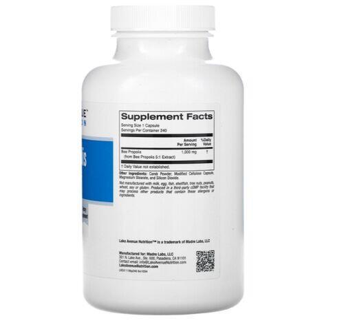 Própolis 1000 mg - Lake Avenue Nutrition - 240 Cápsulas