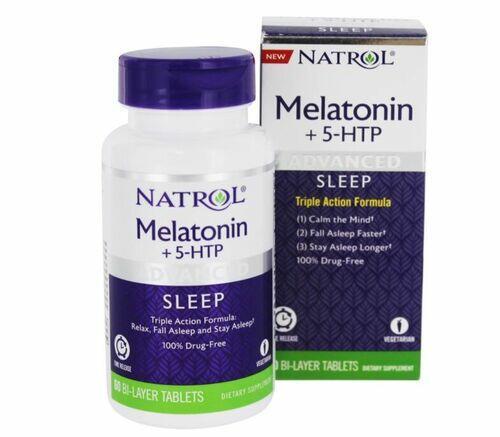 2 x Melatonina + 5HTP Fórmula Avançada - Natrol - Total 120 Tablets
