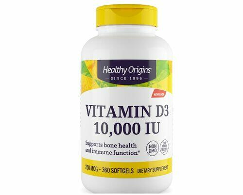 Vitamina D-3 10000 UI - Healthy Origins - 360 Softgels