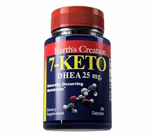 2 x 7-Keto DHEA 25 mg - Earth's Creation - Total 120 cápsulas