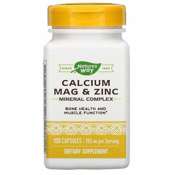 Cálcio - Magnézio - Zinco  - Nature´s Way - 100 Cápsulas