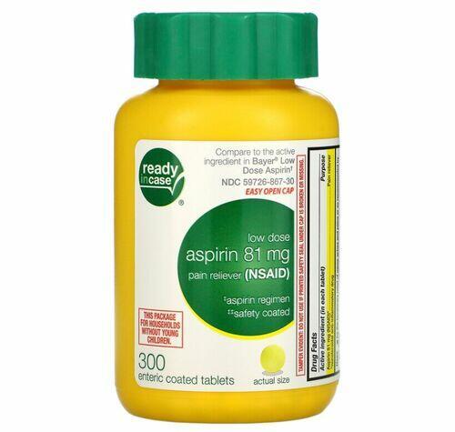 Aspirina Baixa Dose Revestida 81 mg- Life Extension - 300 comprimidos
