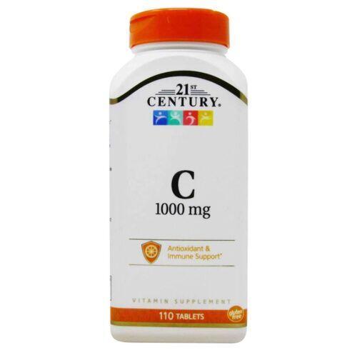 Vitamina C-1000 mg 21st Century - 110 tablets