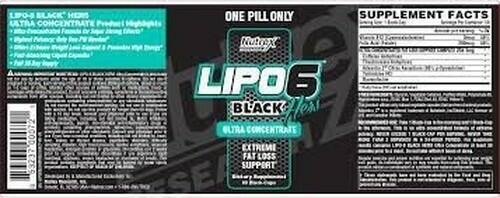 LIPO 6 BLACK ULTRA CONCENTRADO HERS - NUTREX - FÓRMULA IMPORTADA - 60 caps