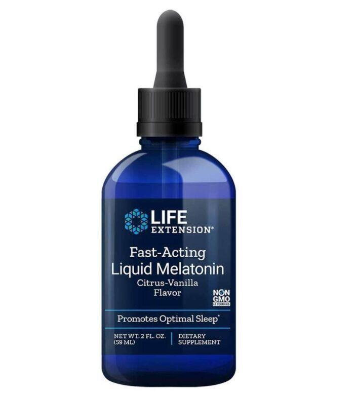 Melatonina liquida 3 mg - Life Extension - 60 ml sabor citrus/baunilha