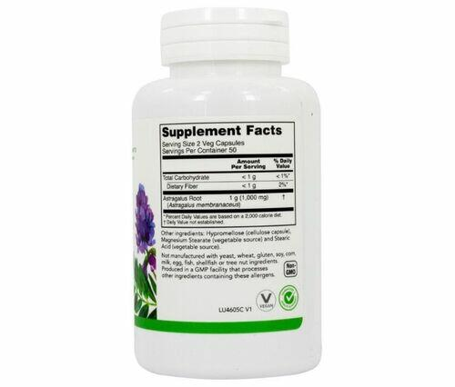 2 x Astragalus 500 mg - Luck Herbs - Total 200 cápsulas