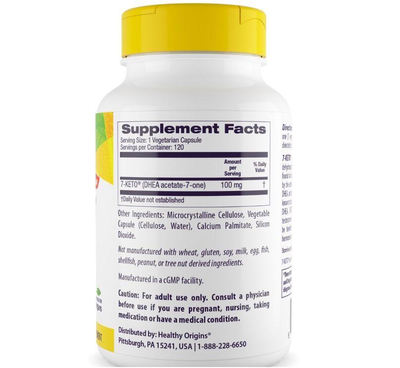 2 x 7-Keto DHEA 100 mg - Healthy Origins - Total 120 cápsulas
