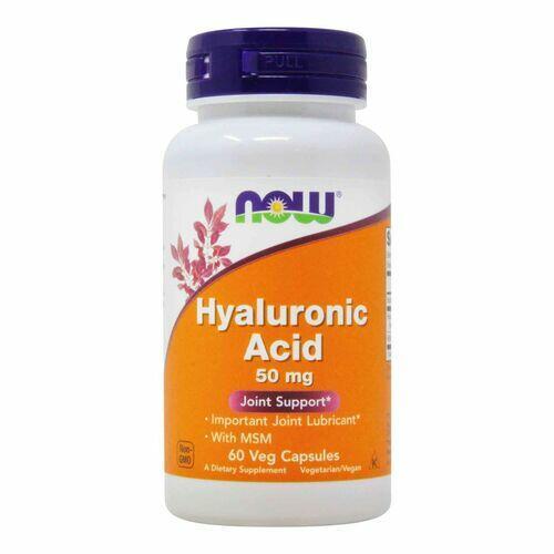 Ácido Hialurônico 50 mg + MSM - Now Foods - 60 cápsulas