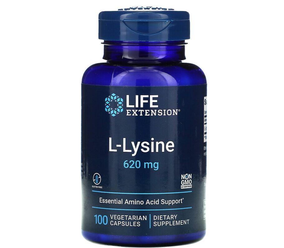 L-Lysine 620 mg  -  Life Extension - 100 Cápsulas