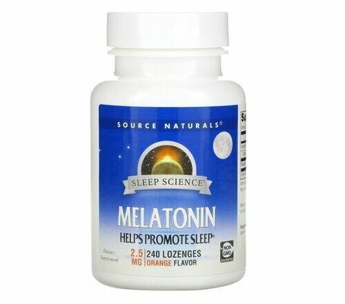 Melatonina 2,5 mg sabor Laranja - Source Naturals - 240 pastilhas