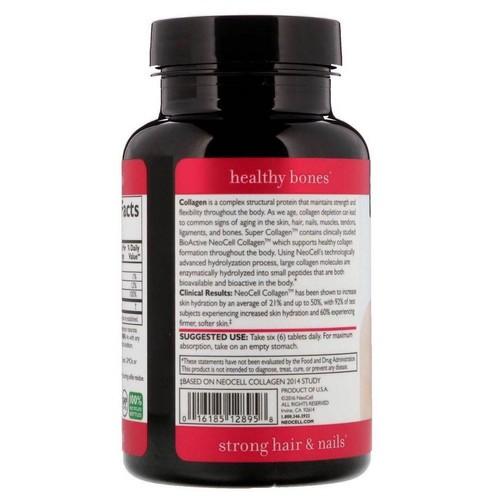 Super Colágeno (Tipo 1 e 3) + Vitamina C - Neocell - 250 Tablets - Frete Grátis