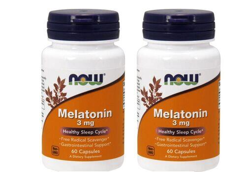 2 x Melatonina 3 mg - Now Foods - Total 120 cápsulas (hormônio do sono)