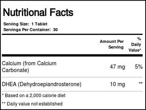 2 x Dhea 10 mg - Natrol - Total 60 Tablets - Frete Grátis