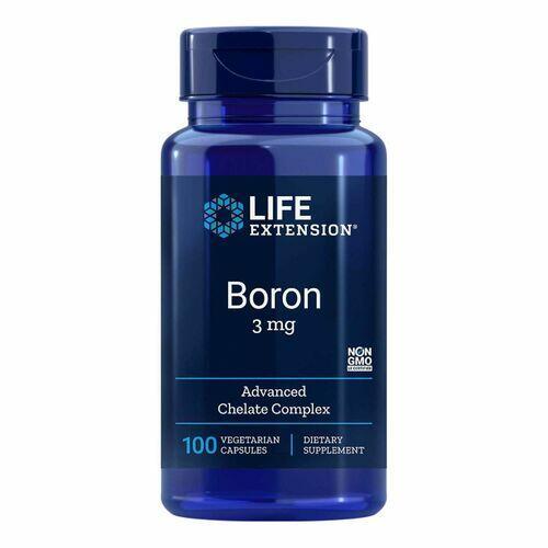 2 x Boro 3 mg - Life Exension - Total 200 Cápsulas