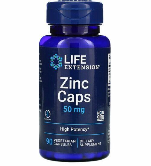 2x Zinco Caps - Life Extension - Total 120 Cápsulas