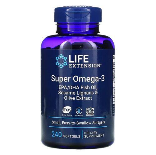 Super Ômega 3 EPA/DHA - Life Extension - 240 softgels