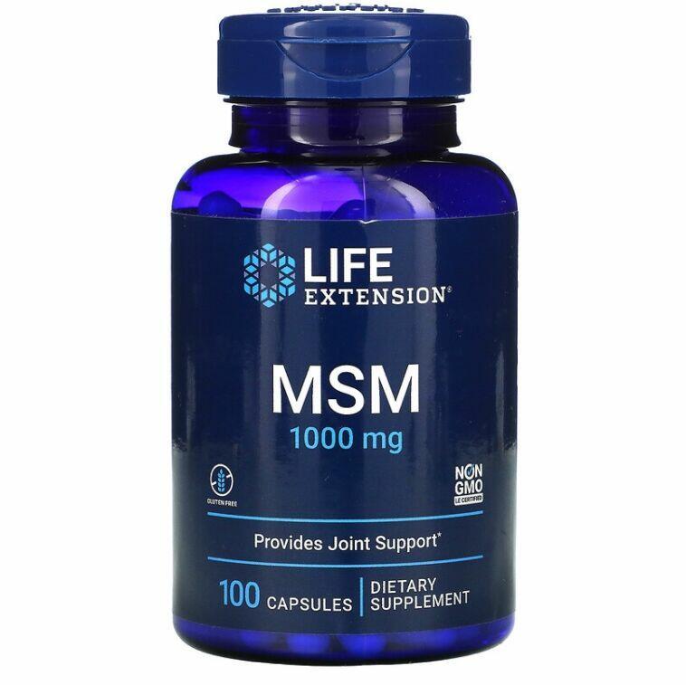 MSM 1000 mg - Life Extension - 100 Cápsulas
