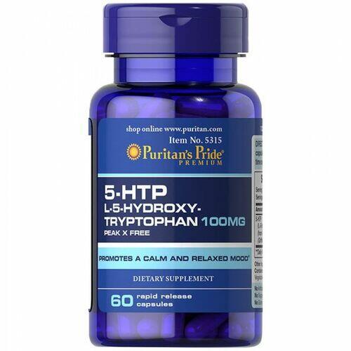 5-HTP 100 mg - Puritan´s Pride - 60 cápsulas