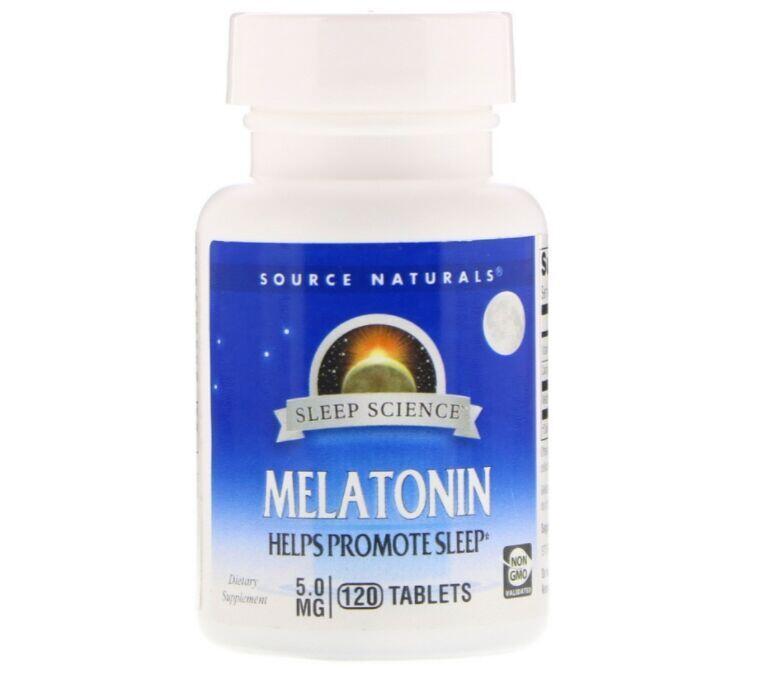Melatonina 5 mg - Source natural´s - Total 120 Tablets