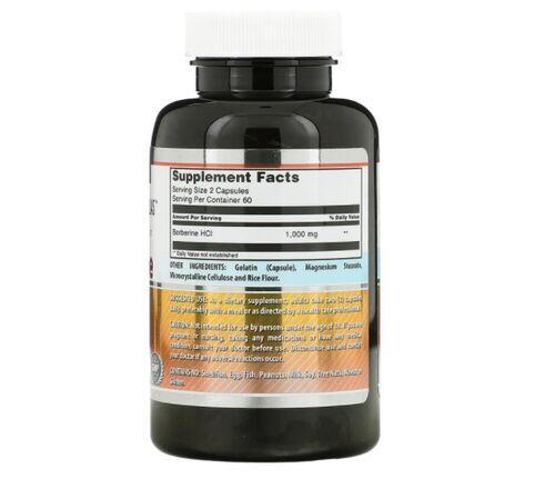 Berberine 500 mg - Amazing Nutrition - 120 Cápsulas