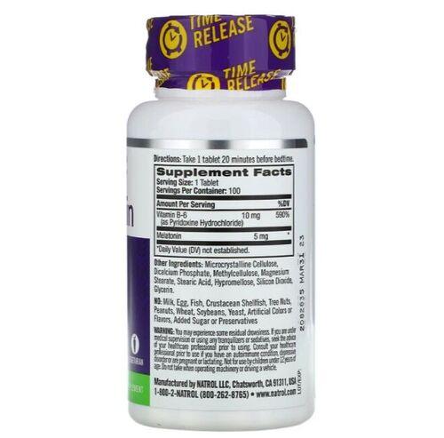 Melatonina 5 mg Liberação Gradual -  Natrol - 250 comprimidos