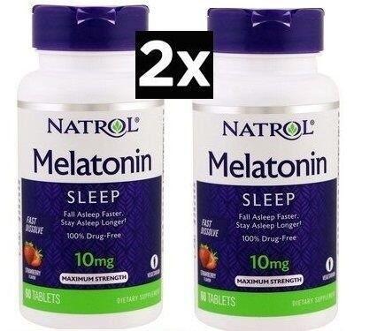 Melatonina 10 mg Fast Dissolve sublingual sabor morango - Natrol - 120 comprimidos