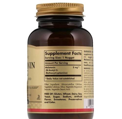 Melatonina 5 mg - Solgar - 120 Tablets
