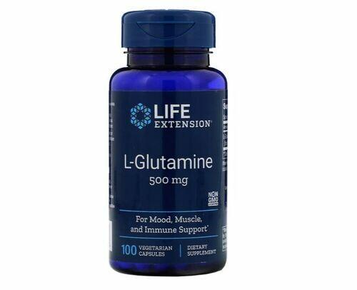 Glutamina 500 mg - Life Extension - 100 Cápsulas
