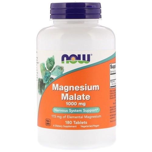Malato de Magnésio 1000 mg - Now Foods - 180 tablets
