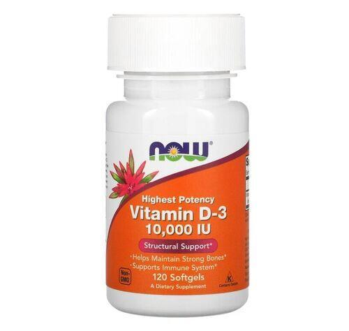 Vitamina D-3 10.000 IU - Now Foods - 240 Softgels