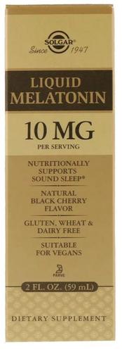 Melatonina líquida 10 mg - Solgar - 59 ml (hormônio do sono)