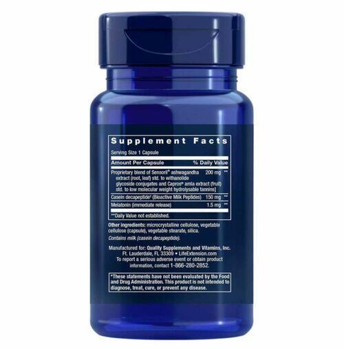 Regulador natural do sono com Melatonina - Life Extension - 30 cápsulas