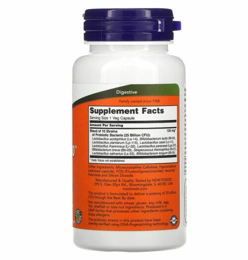 Probiótico 10 - 25 Bilhões - Now Foods - 100 Cápsulas