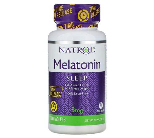 Melatonina 3 mg Liberação Gradual -  Natrol - 100 comprimidos - hormonio do sono